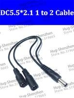 Poder DC 12 V Pigtail 2.1*5.5mm 1 Macho para 2 Feminino Y Splitter Plug Jack Cabo de alimentação para a lâmpada led e monitoramento