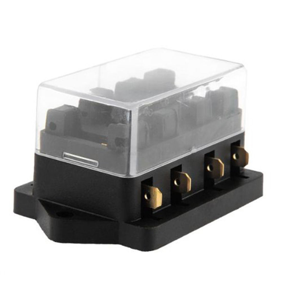 online buy whole hot fuse box from hot fuse box 2016 shipping 4 way fuse box block fuse holder box car vehicle circuit automotive blade