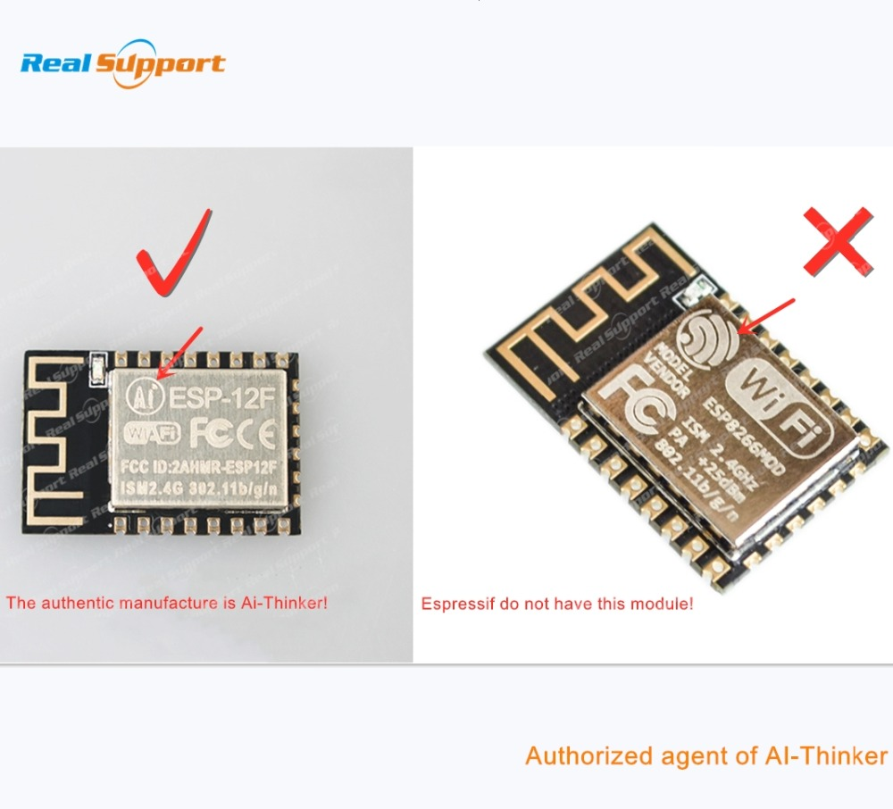 ESP8266-12 ESP-12 ESP-12E ESP-12F ESP-12S ESP8266 WIFI Wireless Module 32Mbit Flash Memory AI-THINKER CE / FCC / ROHS / REACH