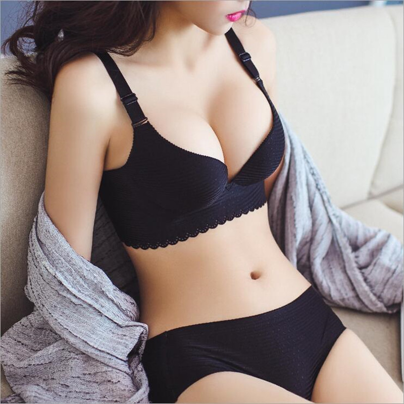 High-quality brand NX Sky stars cloth pattern girl Seamless no rims gather adjustable bra set one piece sexy lingerie bra suit