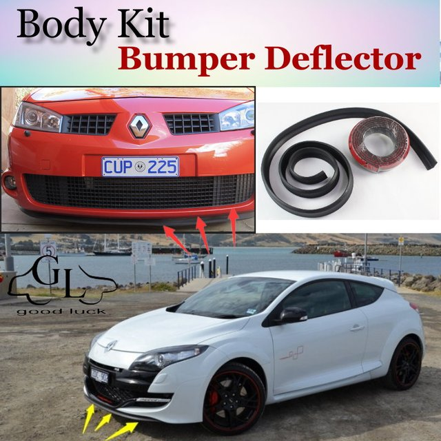 Bumper Lip Deflector Lips For Renault Megane Front Spoiler Skirt For  TopGear Friends to Car Tuning View / Body Kit / Strip-in Spoilers & Wings  from