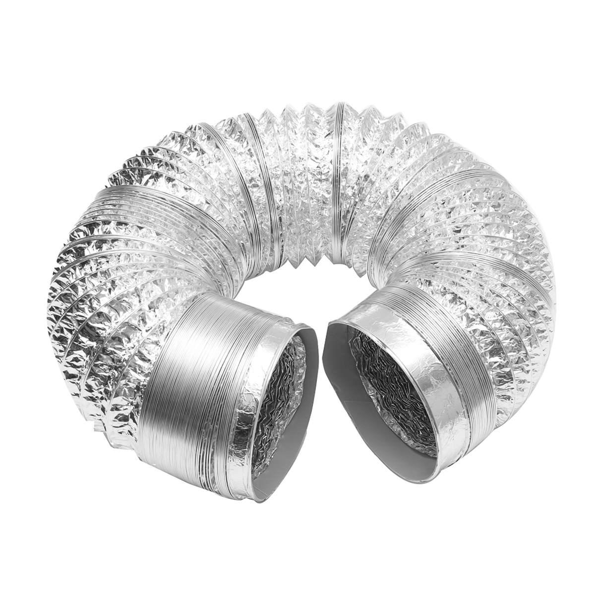 "Aluminium Foil Ducting Flexible Hydroponic Ventilation 4 5 6 8 10/"" 5M or 10M"