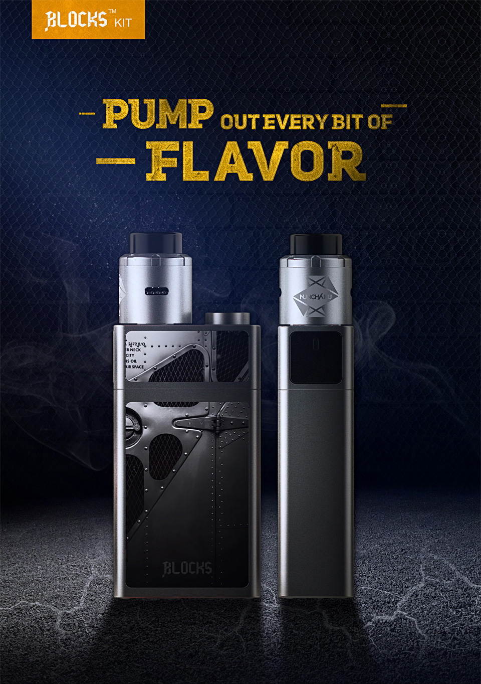 UWELL BLOCKS Vape Kit with Squonk Mod and NUNCHAKU RDA