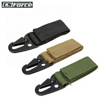 1kpl Olecranon Shape Tactical Molle Nylon -karbiinihihna Hook-soljet avainrengalla Ripustettavat vyönsoljet Retkeilytarvikkeet Matkakassit #