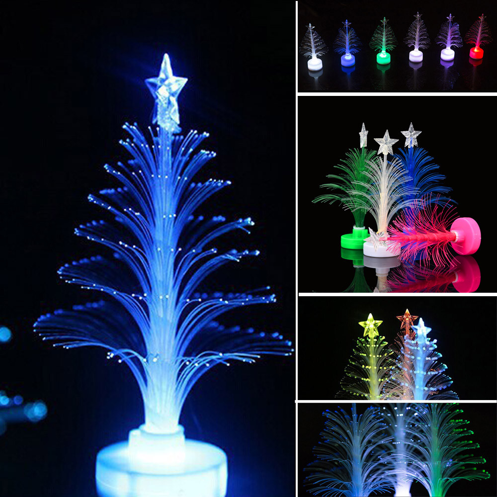 2018 New Hot LED Color Changing Mini Christmas Xmas Tree Home Table Party Charm Ornaments 2018 Wholesale Flashing Рыбная ловля