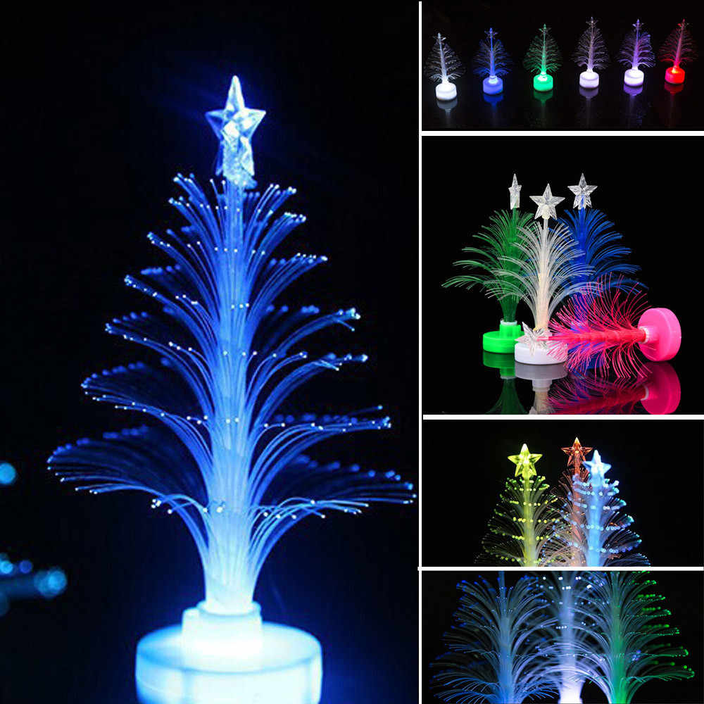 2020 جديد حار LED تغيير لون صغير عيد الميلاد شجرة عيد الميلاد المنزل الجدول حلية للحفلات الحلي 2020 بالجملة وامض