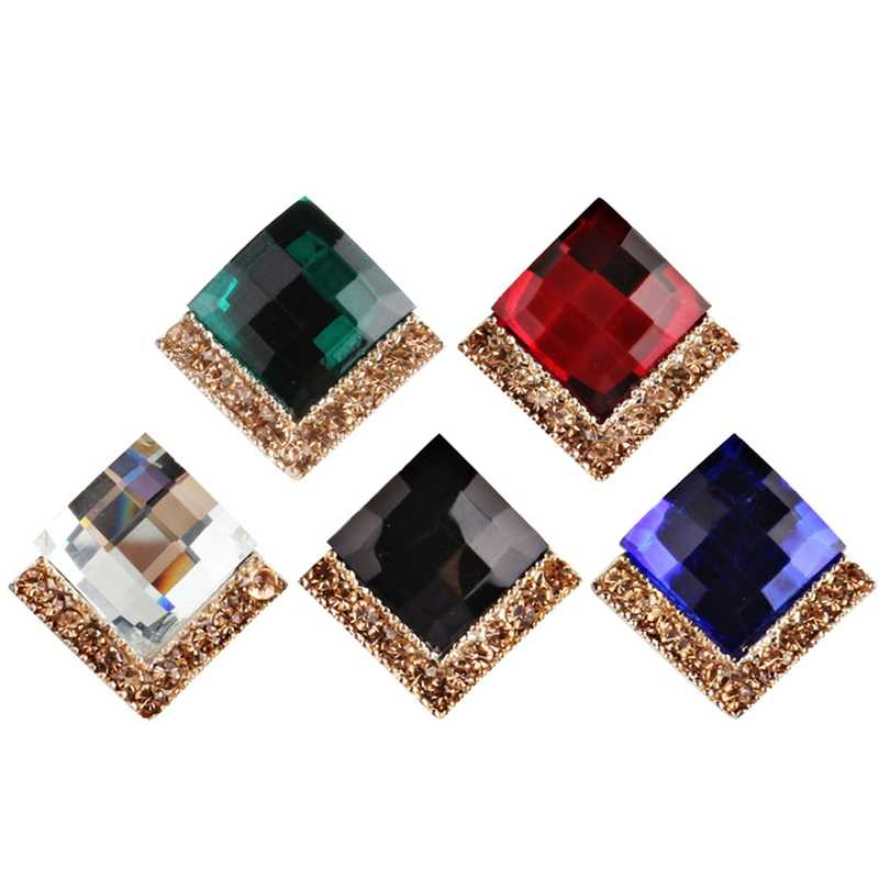 New Fashion Style Hot Sale Women Crystal Rhinestone Multicolor Earrings Elegant Ladies Personality Super Large Stud Earrings