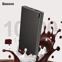 Baseus 10000 mAh Güç Bankası Taşınabilir USB Powerbank Çift Girişler harici pil Paketi Şarj Cep Telefonları Için Tablet Poverban...