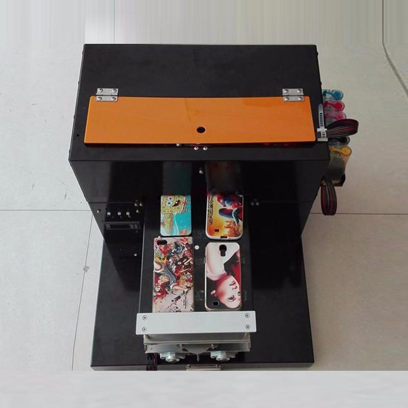 A4 Flatbed Printer Card Mobiele Telefoon Shell Metalen Kristal Gepersonaliseerde Lederen Afdrukken Board Verticale R330