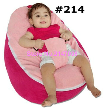 PINK seat New Canvas Baby infant Bean Bag Snuggle Bed Portable Seat No Filling ...