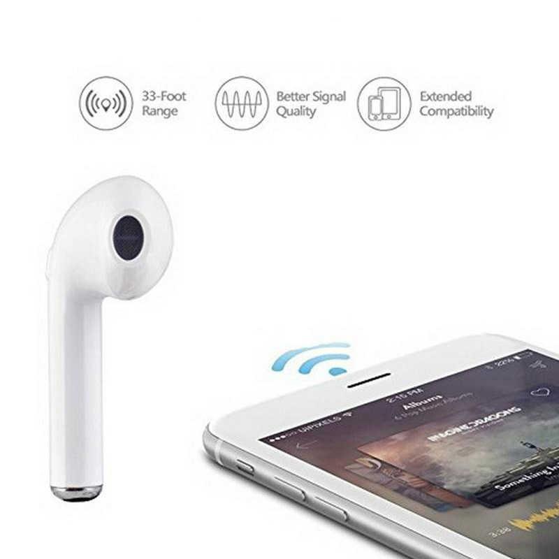 Bluetooth słuchawka do iPhone'a XR XS Max 7 8X6 S 6 Plus SE 5S 5 Honor 20 Lite 20i 10 10i 9 8 bezprzewodowe słuchawki douszne słuchawki