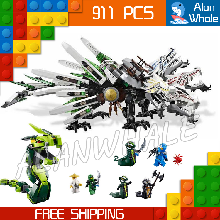 911pcs Bela 9789 Epic Dragon Battle Building Blocks Ninja Action Figures New Toys Model Compatible With lego bela 911pcs ninjagoes epic dragon battle building block set jay zx chokun minifigures kids toy compatible with legoes 9450
