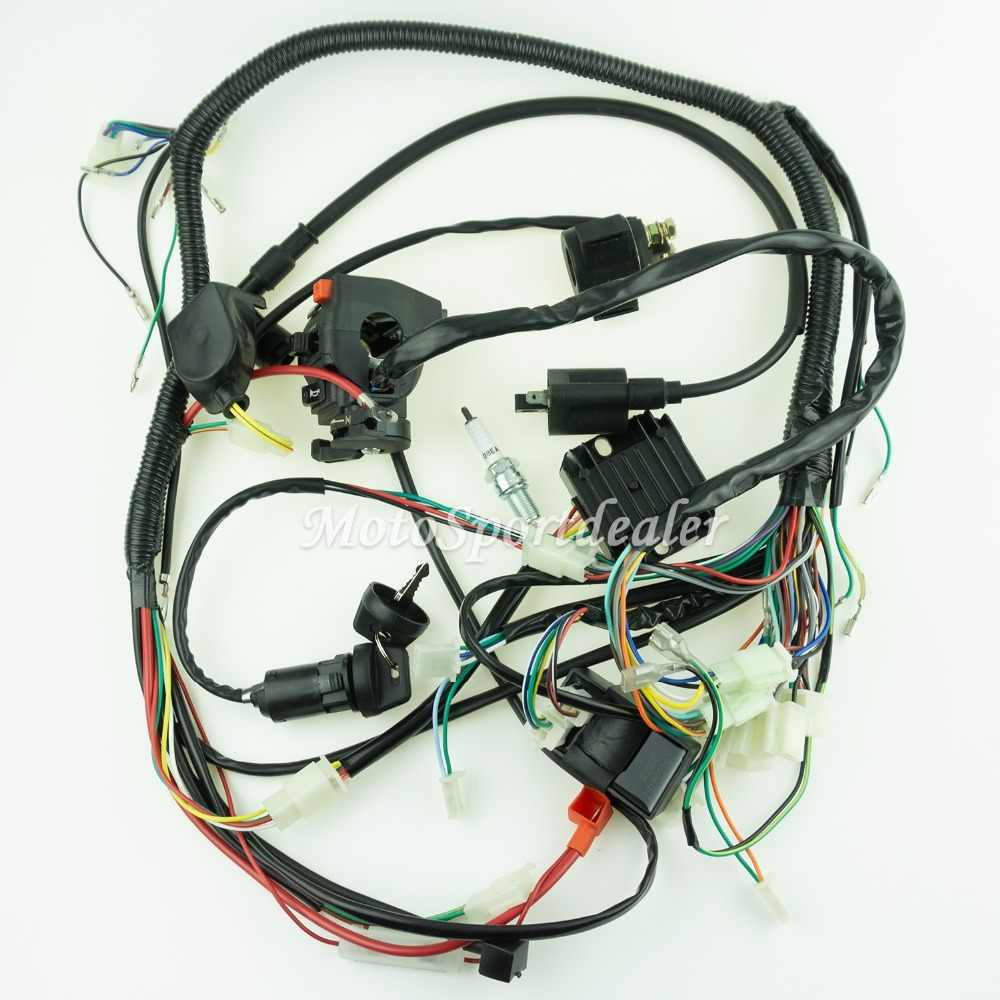 New Full Wiring Harness Loom Ignition Coil CDI For 150cc 200cc 250cc Oic Spark Plug Wiring Diagram on