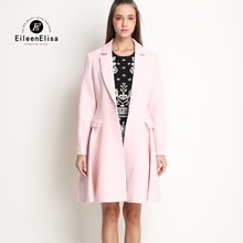 Luxury Brand Wool Coat EE European Wool Cashmere Long Coat Winter Pink Women Coat