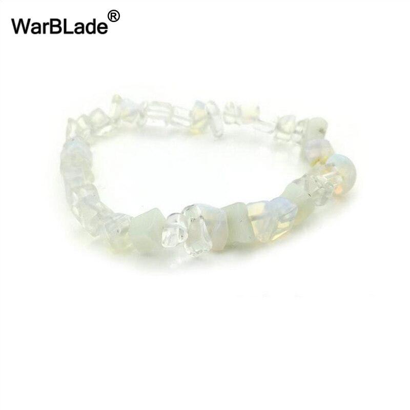 WBL 35Color Natural Gem Stone Bracelet Irregular Crystal Stretch Chip beads Nuggets Bracelets Bangles Quartz Wristband For Women 3