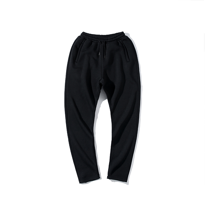 Autumn and spring plus cashmere sweat mens fashion casual Harlan Collocation trousers shut loose legs feet Wei pants