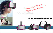 2016 New Arrival: Virtual Reality All In One Machine Headset VR BOX Andriod 4.4 WIFI 1G/8G 1280×720 Cheapest VR Machine