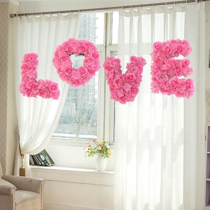 Fleurs d'amour artificielles pour salle de mariage et décorations de voiture fournitures accessoires de Photo d'événement de fête