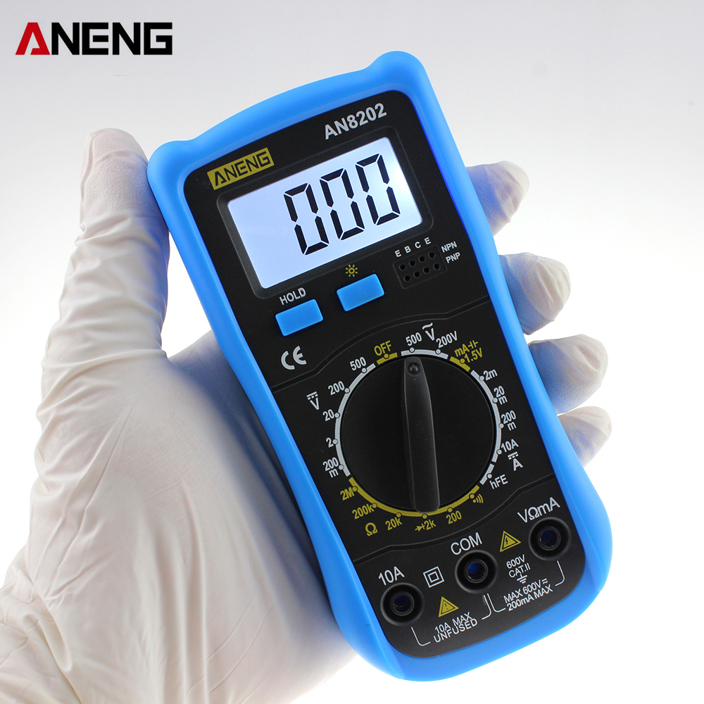 New Professional ANENG AN8202 1999 Counts LCD Display Backlight Handheld Electric Multimeter AC / DC Ammeter Voltmeter цены