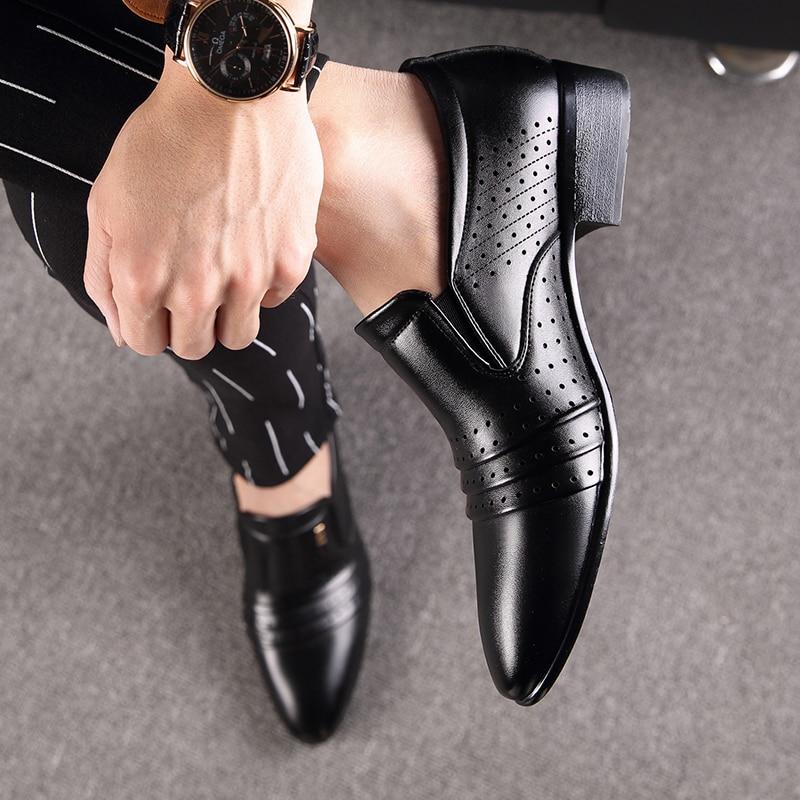 BIMUDUIYU Mewah merek PU Kulit Fashion Pria Bisnis Berpakaian Sepatu - Sepatu Pria - Foto 5