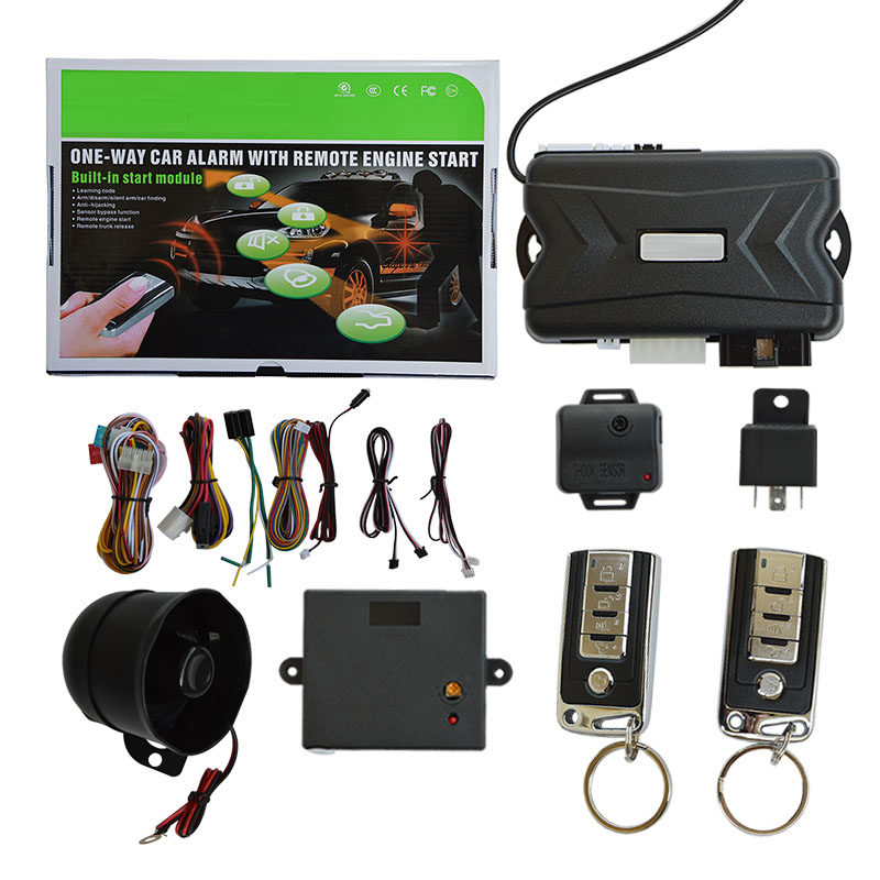 Universal Fit Quality SPY One Way Built-in Start Module Car Alarm with keyless entry system Remote Engine Start Function universal one way car alarm security system with four buttons remote transmitters suitable for all kinds of cars fast shipping