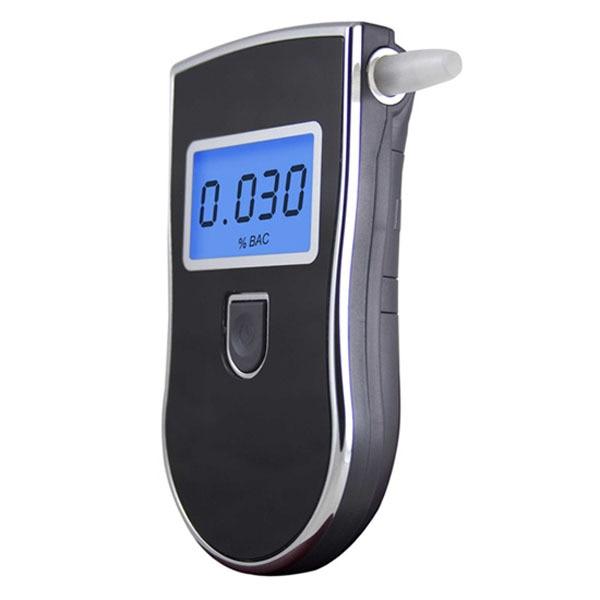 8 pcs/lot professionnel Police numérique souffle alcool testeur alcootest détecteur d'alcool rétro-éclairage affichage 5 pièces embout