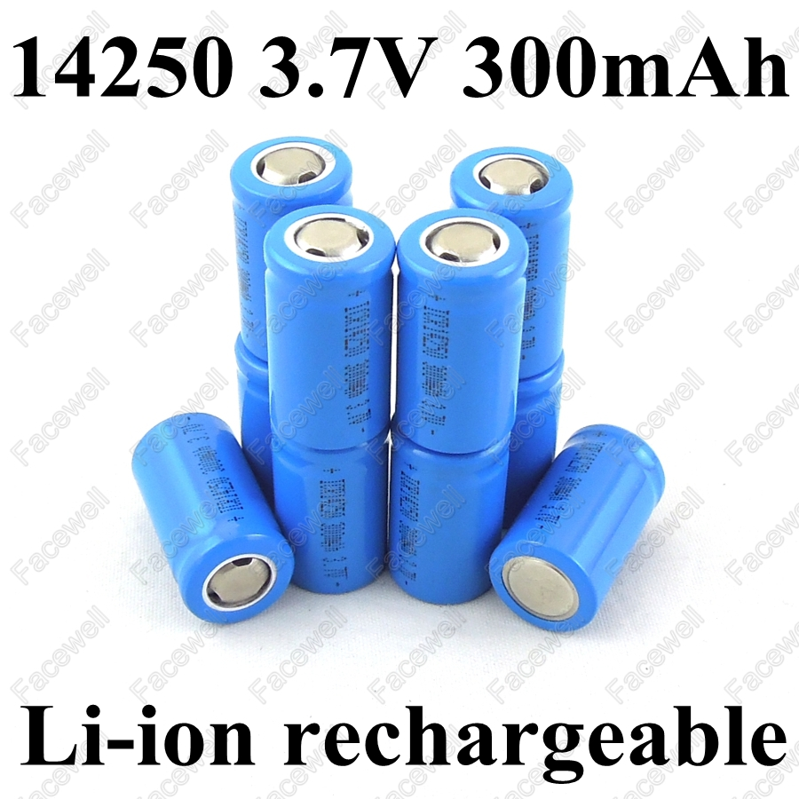 10pcs original battery 14250 3 7v 300mah rechargeable. Black Bedroom Furniture Sets. Home Design Ideas