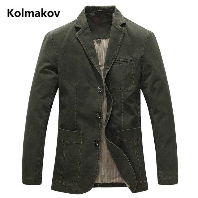 2018 spring  Men 100% cotton casual blazer men's brand military jacket blazers mens suit coat male blazer masculino jackets