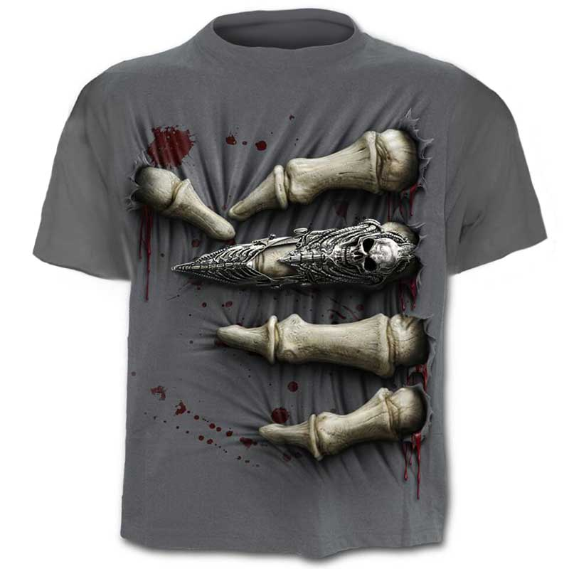 Brand Skull T shirt Blood Clothes Funny Clothing Hip-Hop Tees 3D Tops T-shirt Men Short Sleeve Male Fashion Homme
