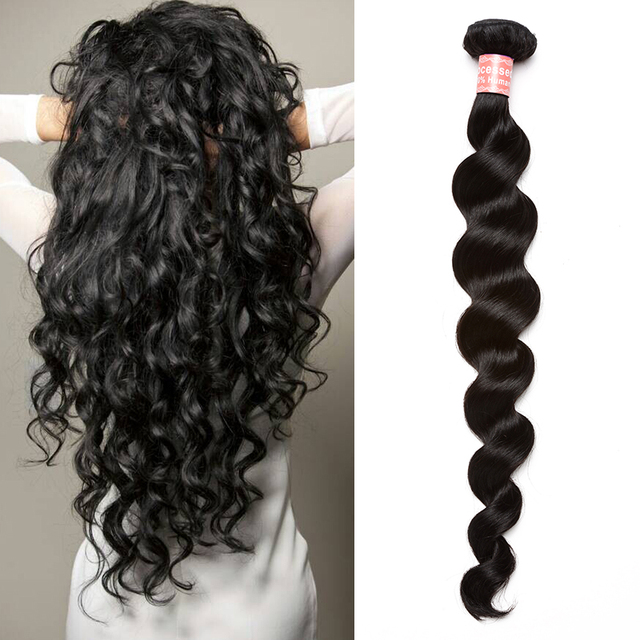 "6A Peruvian Virgin Hair Extensions Loose Curly Human Hair Weave Wavy Rosa Hair Products Peruvian Loose Wave 10""-30"" Available"
