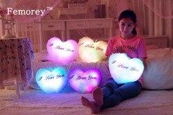 38 cm śliczne poduszka z oświetleniem led Luminous poduszki boże narodzenie zabawki pluszowe poduszki Hot kolorowe gwiazdy zabawki dla dzieci prezent urodzinowy