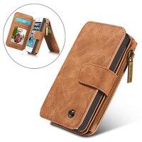 Luxus Fall Für iPhone 5 S SE Mappenkasten, Vintage Leder Flip Book Taschen Fall für iPhone X 10 6 6 s plus Coque