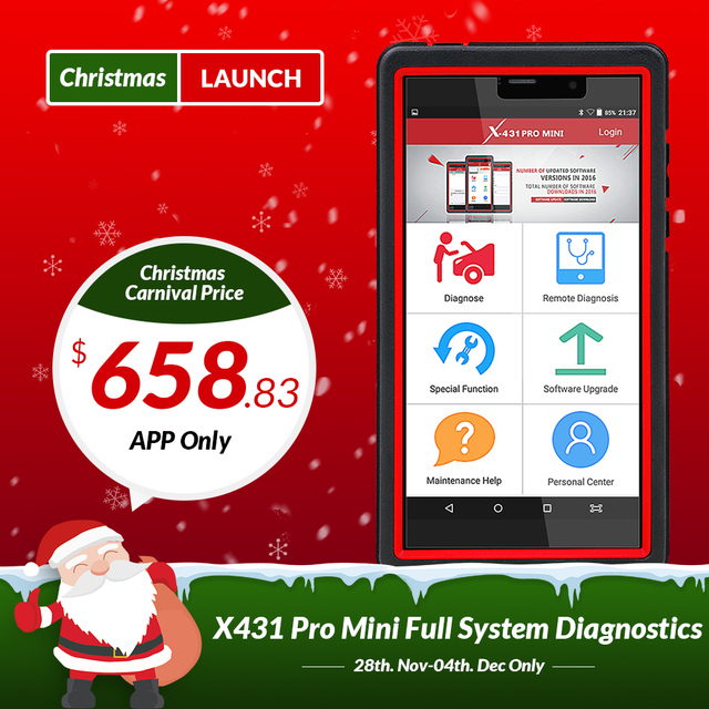 Best Offers LAUNCH X431 Pro Mini Auto diagnostic tool Support WiFi/Bluetooth full system X-431 Pro Pros Mini Car Scanner 2 years free update