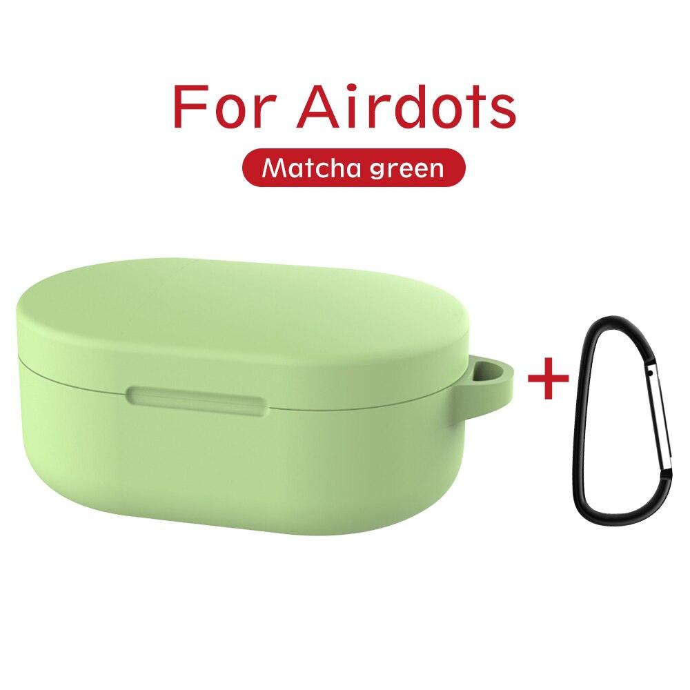 Силиконовый чехол с пряжкой для Red mi AirDots Air dots, чехол, беспроводной Bluetooth чехол s, мягкий ТПУ чехол