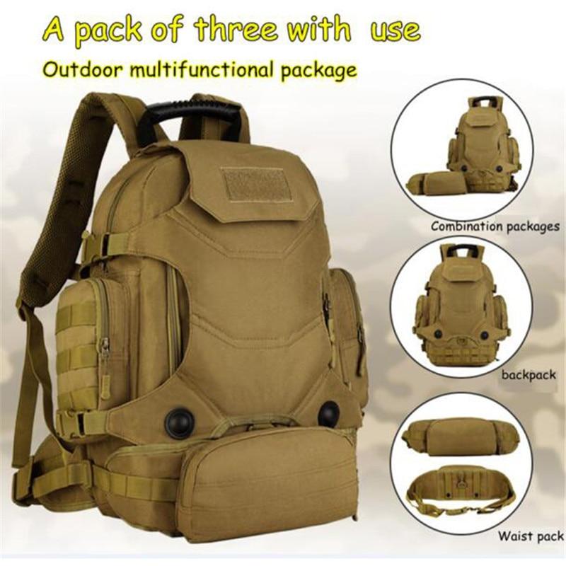 Wojskowy plecak we wzór maskujący plecak 40 litrów torby podróżne plecak wielofunkcyjny plecak 14 cal pack kobiet darmo hologramów w Plecaki od Bagaże i torby na  Grupa 2