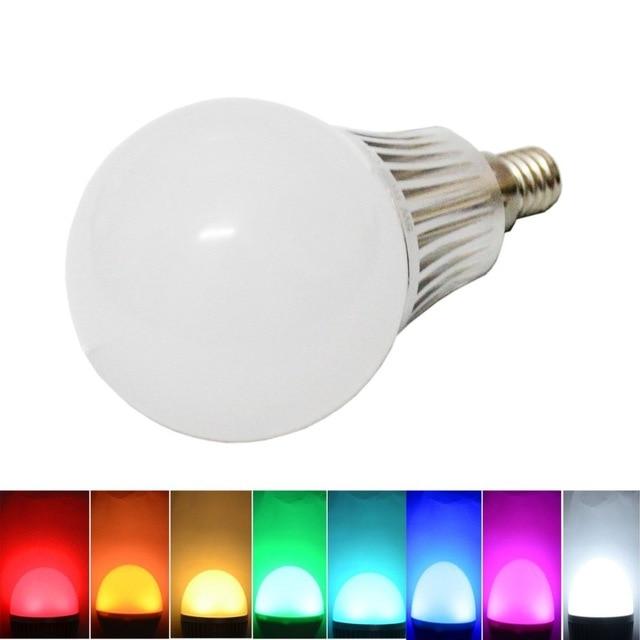Lámpara LED mi luz 2.4g LED E14 SMD 5730 85-265 V 110 V 220 V 6 W rgbw Blanco/caliente regulable