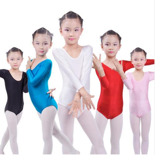 Long Sleeve Ballet Leotards For Girls Bodywear Spandex Children Kids Dance Leotards Turnpakje Justaucorps Gymnastique Fille