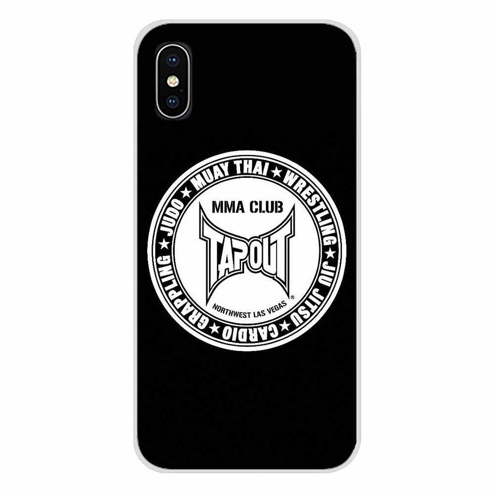 Para Samsung Galaxy S3 S4 S5 Mini S6 S7 Borda S8 S9 S10 Lite Plus Nota 4 5 8 9 tampas Do Telefone de Silicone populares boxe ufc mma tapout