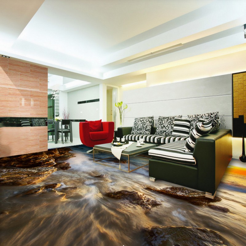 wohnung einrichtungen hauch orient, free shipping custom picture floor paste seaside sunrise waves floor, Design ideen