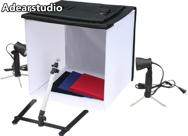 studio photography lights shooting box photography light tent light tent photography 50cm spotlights cotans set light  no00dC photography lights studio light set photography light box suitcase photo box photographic equipment 50x50cm no00dc