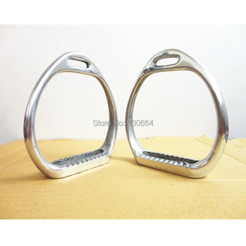Оптовая продажа свет Алюминий стремя для скачек лошадь оборудования F1009