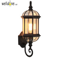 Waterproof lamp outdoor wall lamp rustic wall lights outdoor balcony fashion speaker wall lamp aluminum+arcylic E27 LED Bulb