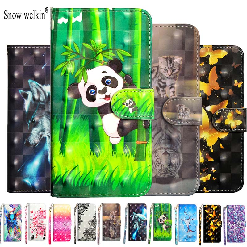 <font><b>3D</b></font> Flip PU Leather Case Fundas For <font><b>Samsung</b></font> Galaxy J3 J5 2016 J3 J5 <font><b>J7</b></font> 2017 J4 J6 Eu J2 Pro J8 2018 Cover Wallet Stand Phone Case image