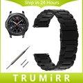22mm Faixa de Relógio de Aço Inoxidável + Pinos de Liberação Rápida para samsung gear s3 clássico fronteira cinta wirst pulseira de ouro negro prata