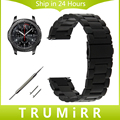 22mm Stainless Steel Watch Band + Quick Release Pins for Samsung Gear S3 Classic Frontier Wirst Strap Bracelet Black Gold Silver