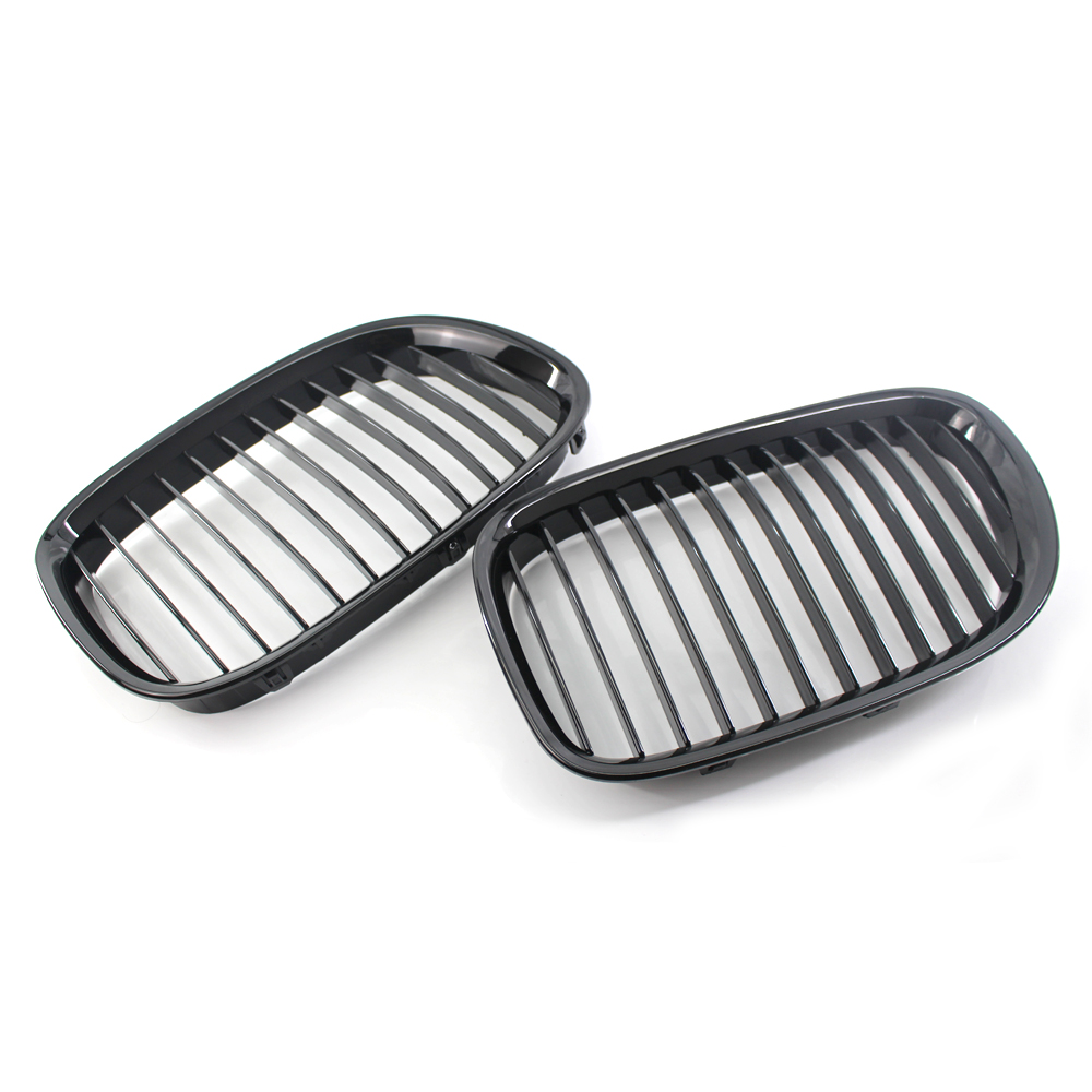 1 Pair Front Hood Kidney Grille Mesh for BMW 7 Series F02 09 15 Years