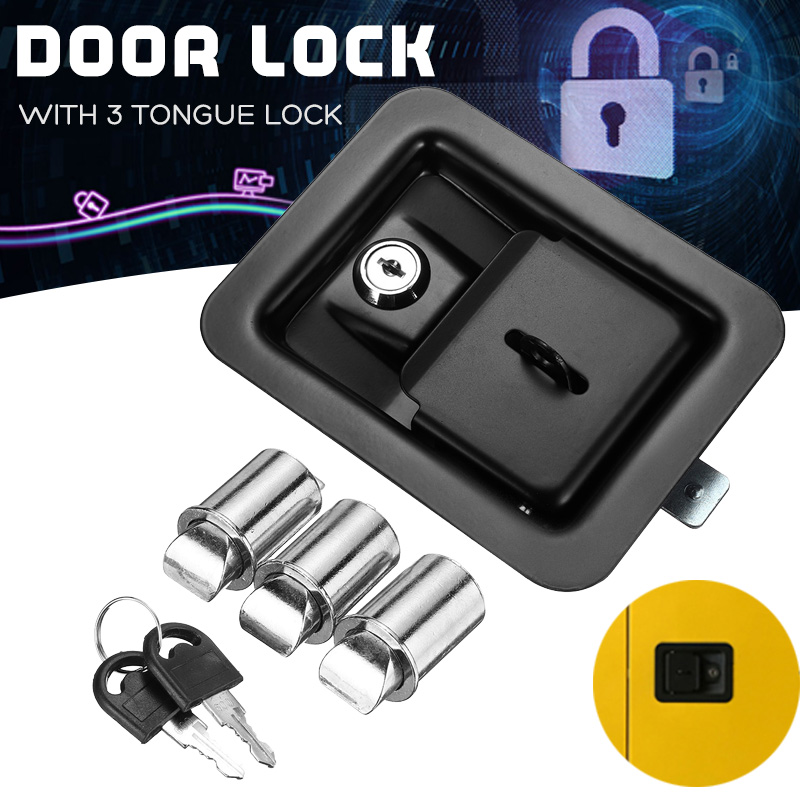 Paddle Door Lock Latch Cabinet Lock Handle With Keys Multiple for Truck Tool Box TrailerPaddle Door Lock Latch Cabinet Lock Handle With Keys Multiple for Truck Tool Box Trailer