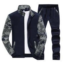 Spring Autumn Men's Clothing Suits Male Clothing Set Casual Sweatshirts Pant Men Patchwork Sportswear M-4XL clothing loves oранжевый номер 4xl