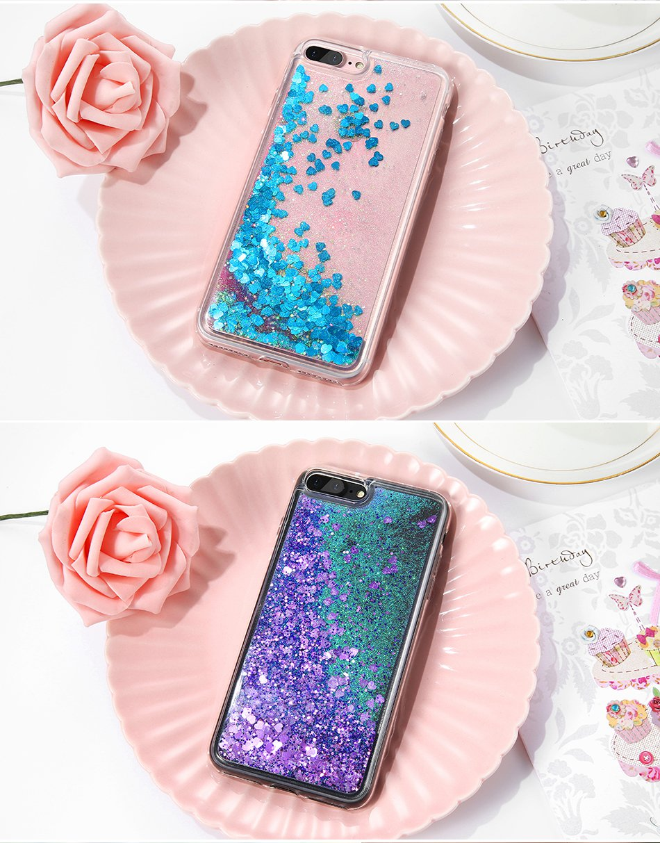 Glitter Quicksand Cover For iPhone 7 Plus For iPhone 6 6S Plus 5 5S SE Sequin Silicon Phone Cases (7)