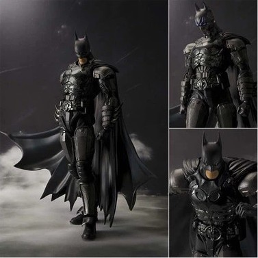 SHF Batman Injustice Ver Shf Batman In Justice Statue Action Figure Toy Dc Comics free shipping 6 comics dc superhero shfiguarts batman injustice ver boxed 16cm pvc action figure collection model doll toy